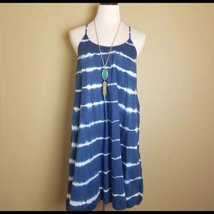 Madewell Indigo Shibori Shift Blue Sundress Sz L